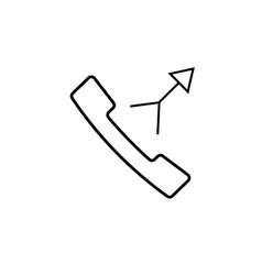 merge call icon vector image