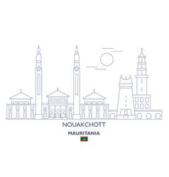 nouakchott city skyline vector image