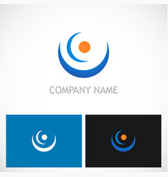 point curve abstract company logo vector image