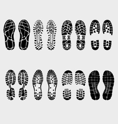 prints of shoe vector image vector image