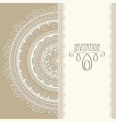 vintage invitation vector image vector image