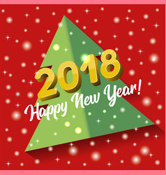 2018 happy new year greeting card or poster vector image