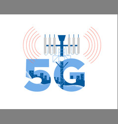 5g tower health risk radiation concept isolated vector