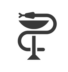 a snake twined around chalice bowl of hygieia vector image