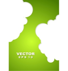 Abstract green corporate design vector