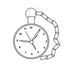 abstract old clock vector image