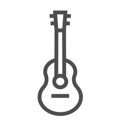 acoustic guitar line icon music and string vector image