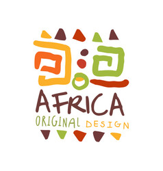 African style logo with ancient tribal symbols vector