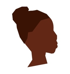 African woman icon African descendant design vector