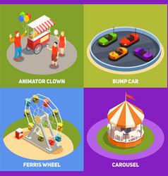 amusement park 2x2 design concept vector image