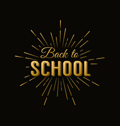 back to school calligraphic label on chalkboard vector image