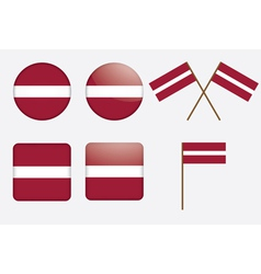 badges with flag of Latvia vector image