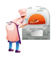 Baker in kitchen flat character vector