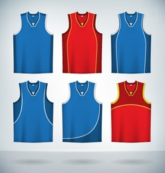 Basketball jerseys vector