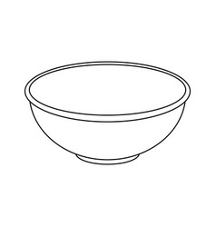 Bowl icon image vector