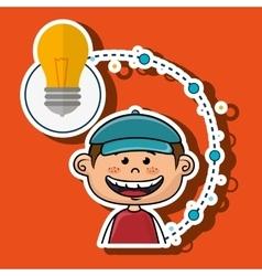 boy cartoon idea icon vector image