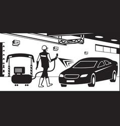 Car paint service vector