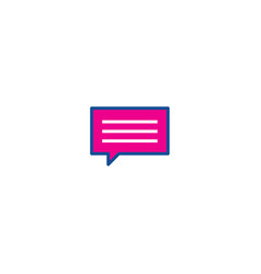 chat thin line color icon icon for web and user vector image