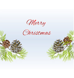 christmas and new year decorative seamless vector image