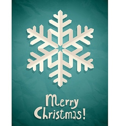 christmas postcard with snowflake vector image