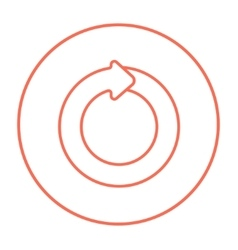 Circular arrow line icon vector