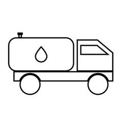 cistern truck black color icon vector image