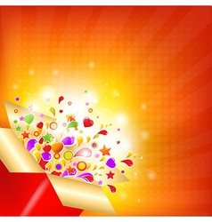 Colorful gift box vector