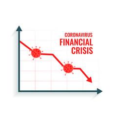 coronavirus scare global market downfall crisis vector image
