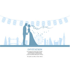 couple silhuette in city vector image