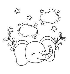 cute little animal pet cartoon vector image