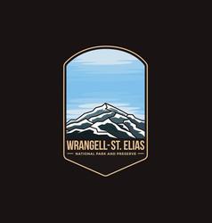 Emblem patch wrangell st elias national park vector