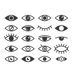 eye icon medicine supervision health eyes look vector image