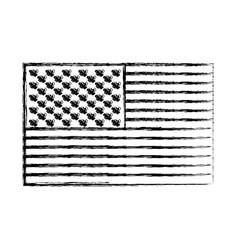 flag united states of america flat monochrome vector image