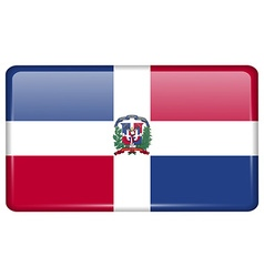 Flags Dominican Republic in the form of a magnet vector
