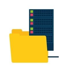 folder data media server technology vector image