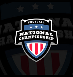 Football nationl championship emblem logo on a vector