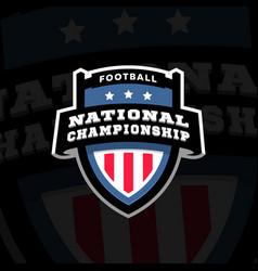 football nationl championship emblem logo vector image
