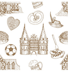Germany drawn seamless pattern vector