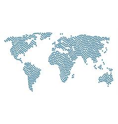 Global atlas pattern of angel icons vector