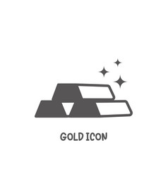 gold icon simple flat style vector image