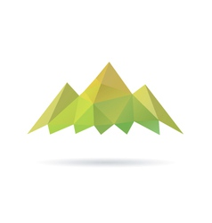 Green mountain abstract isolated vector image