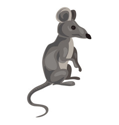grey mouse icon cartoon style vector image