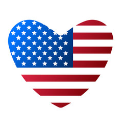 i love usa flag icon happy 4 th july and vector image