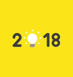 icon concept of year of 2018 with glowing light vector image
