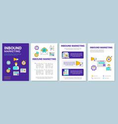 Inbound marketing brochure template layout vector