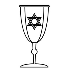 Judaism cup icon outline style vector