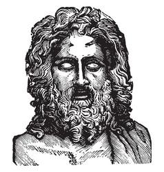 Jupiter statue was one seven wonders of vector