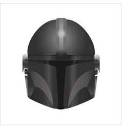 logo mandalorian helmet vector image