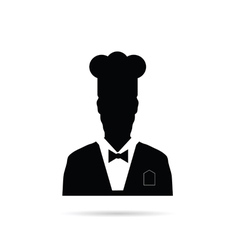 man chief icon black vector image