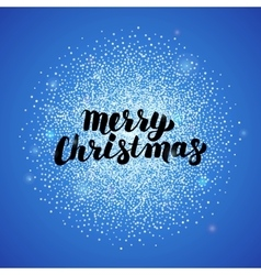 Merry Christmas Blue Greeting Card vector image